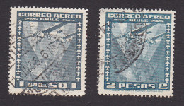 Chile, Scott #C39-C40, Used, Planes Over Chile, Issued 1934 - Chile