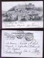 CARSOLI - L'AQUILA - 1904 - PANORAMA - SPEDITA PER KHARTOUM (SUDAN) - L'Aquila