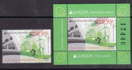 Montenegro 2016 Europa CEPT, Think GREEN, Environment, Bicycle, Stamp + Block, MNH - Montenegro