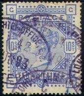 #1- GREAT BRITAIN   109a,   F-VF,Used, COBALT, Sound, SCV$8500,Very Rare...   (gb109-10, - 1840-1901 (Victoria)