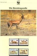 Gazelle WWF-Set 155 Obervolta 1298/1 ** 12€ Naturschutz 1993 Rotstirngazelle Dokumentation Fauna Wild-life Burkina Faso - Farm