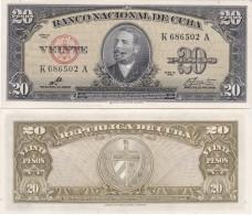 Cuba - 20 Pesos 1960 AUNC Sign. Che Lemberg-Zp - Cuba