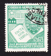 Chile, Scott #C127, Used, Factory, Badge And Book, Issued 1949 - Chile