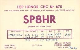 Amateur Radio QSL Card - SP8HR - Lubelski, Poland - 1967 (2 QSOs) - Radio Amateur