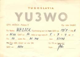 Amateur Radio QSL Card - YU3WO - Yugoslavia - 1968 - Radio Amateur