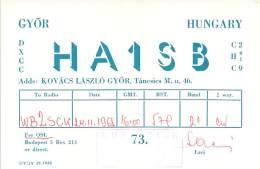 Amateur Radio QSL Card - HA1SB - Hungary - 1968 - Radio Amateur