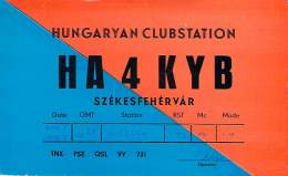 Amateur Radio QSL Card - HA4KYB Club Station - Hungary - 1967 - Radio Amateur