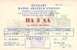 Amateur Radio QSL Card - HA5AA - Budapest, Hungary - 1969 - 2 Scans - Radio Amateur