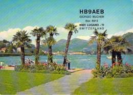 Amateur Radio QSL Card - HB9AEB - Lugano, Switzerland - 1969 - 2 Scans - Radio Amateur