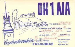 Amateur Radio QSL Card - OK1AIA - Pardubice, Czechoslovakia - 1969 - Radio Amateur