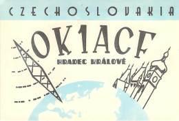 Amateur Radio QSL Card - OK1ACF - Czechoslovakia - 1969 On 14MHz - 2 Scans - Radio Amateur