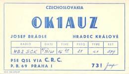 Amateur Radio QSL Card - OK1AUZ - Czechoslovakia - 1968 - Radio Amateur