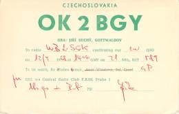 Amateur Radio QSL Card - OK2BGY - Czechoslovakia - 1968 - Radio Amateur