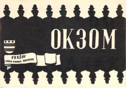 Amateur Radio QSL Card - OK3OM - Presov, Czechoslovakia - 1968 -  2 Scans
