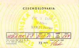 Amateur Radio QSL Card - OK3ZMV - Presov, Czechoslovakia - 1969 -  2 Scans - Radio Amateur