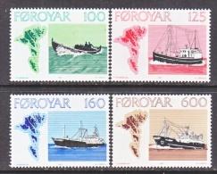 FAROE  ISLANDS  24-7     **    FISHING  BOATS   MAP - Faroe Islands