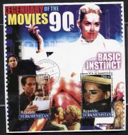 LEGENDARY MOVIES CINEMA OSCAR MOVIES On SOUVENIR STAMP SHEET,cto,used,BASIC INSTINCT