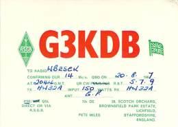 Amateur Radio QSL Card - G3KDB - Lichfield, Staffordshire ENGLAND - 1967 - Radio Amateur