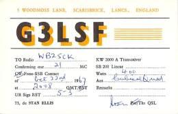 Amateur Radio QSL Card - G3LSF - Scarisbridk, Lancs. ENGLAND - 1967 - Radio Amateur