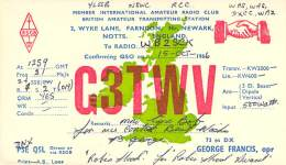 Amateur Radio QSL Card - G3TWV - Farndon, Notts. ENGLAND - 1966 - Radio Amateur