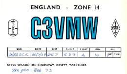 Amateur Radio QSL Card - G3VMW - Ossett, Yorkshire ENGLAND - 1969 - Radio Amateur