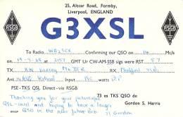 Amateur Radio QSL Card - G3XSL - Liverpool, ENGLAND - 1968 - Radio Amateur
