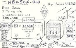Amateur Radio QSL Card - G3XSN - Liverpool ENGLAND - 1968 - Radio Amateur