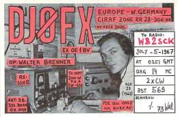 Amateur Radio QSL Card - DJ0FX - Germany - 1967 - 2 Scans - Radio Amateur