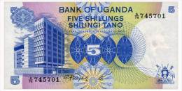 UGANDA 5 SHILLINGS ND(1979) Pick 10 Unc - Uganda