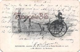 Nitouche Course De La Petite Gironde 1903 à M. Mousset De Bordeaux - Fiacre Caleche Attelage - 2 SCANS - Cartes Postales