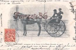 Nitouche - Calèche Attelage Hippisme -  Course De La Petite Gironde 1903 à M. Labat De Biarritz - Fiacre - 2 SCANS - Cartes Postales