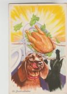 CPSM HUMOUR CHIEN CHAT - La Gourmandise - Humour