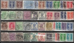 _6R-875:restje Van 39 Zegels .diverse.. .. Om Verder Uit Te Zoeken.. - Indien (...-1947)