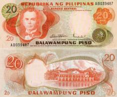 Phillippines - 20 Pesos 1970 UNC - Filipinas