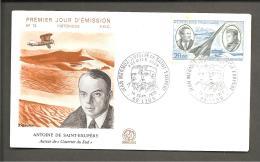 Premier Jour D émission  Jean  Mermoz   Antoine De St Exupery - Airmail