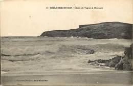 - Morbihan -ref-D04-  Belle Ile En Mer - Etude De Vagues A Donnant -  Carte Bon Etat - - Belle Ile En Mer