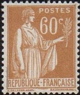 France Type Paix N°  364 ** 3ème Série Le 60c Bistre - 1932-39 Paix