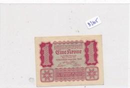 Billets - B2105- Autriche - Hongrie - Billet 1 Krone 1922 ( Type, Nature, Valeur, état... ) - Bankbiljetten