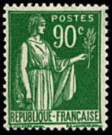 France Type Paix N°  367 ** 5ème Série Le 90c Vert - 1932-39 Paix