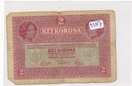 Billets - B2107 - Autriche - Hongrie - Billet 2 Ket Korona 1917  ( Type, Nature, Valeur, état... Voir Double  Scans) - Bankbiljetten