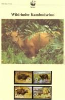 Wildrinder WWF-Set 44 Kambodscha 823/6 ** 20€ Naturschutz Dokumentation 1986 Rind Fauna Wildlife Stamp Of Kampuchea ASIA - Kampuchea