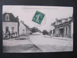 CPA - SAVIGNY EN SEPTAINE - GRANDE RUE - ROUENNERIE GRESSIN - France
