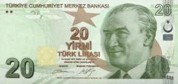 TURKEY 20 TURK LIRASI 2009 (2012) P-224b UNC SIGN. BAŞÇI & ÇETINKAYA. PREFIX B [TR302b] - Turkey