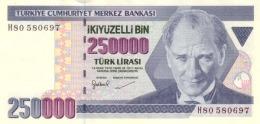 TURKEY 250000 TURK LIRASI L.1970 (1998) P-211 UNC  [TR286a] - Turkey