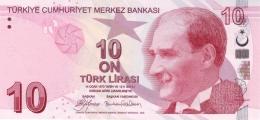 TURKEY 10 TURK LIRASI 2009 P-223a UNC SIGN. YILMAZ & GÖKLEMEZ. PREFIX A [TR301a] - Turkey
