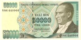TURKEY 50000 TURK LIRASI L.1970 (1995) P-204a UNC SIGN. TÖRÜNER & ERTAN [TR282a] - Turkey