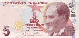 TURKEY 5 TURK LIRASI 2009 P-222a UNC SIGN. YILMAZ. TAN COLOR [TR300a] - Turkey