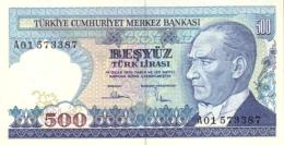 TURKEY 500 TURK LIRASI L.1970 (1983) P-195a UNC WATERMARK: TYPE A. [TR271a] - Turkey