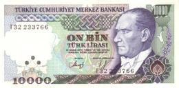 TURKEY 10000 TURK LIRASI L.1970 (1993) P-200a UNC WHITE PAPER [TR278a] - Turkey
