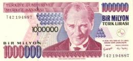 TURKEY 1000000 TURK LIRASI L.1970 (2002) P-213b UNC WATERMARK: TYPE C [TR290b] - Turkey